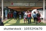 bologna  italy   march 26  2018 ... | Shutterstock . vector #1055293670