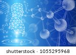 abstract background technology... | Shutterstock .eps vector #1055295968