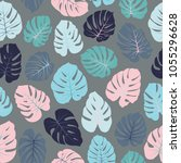 grey  pink and blue vector... | Shutterstock .eps vector #1055296628