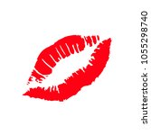 print of lips kiss vector... | Shutterstock .eps vector #1055298740