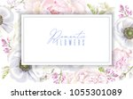 vector botanical banner with... | Shutterstock .eps vector #1055301089