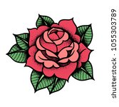 tattoo rose flower.tattoo ... | Shutterstock .eps vector #1055303789