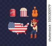 united states of america... | Shutterstock .eps vector #1055305979