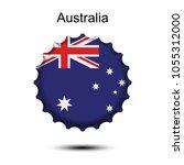 national flag of australia on a ...   Shutterstock .eps vector #1055312000
