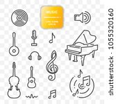 set of music icons  vector... | Shutterstock .eps vector #1055320160