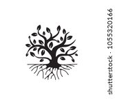 tree with roots  simple icon ... | Shutterstock .eps vector #1055320166