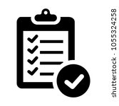 checklist icon. check list | Shutterstock .eps vector #1055324258