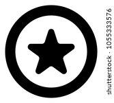 star icon black color in circle