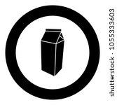 package for milk icon black... | Shutterstock .eps vector #1055333603