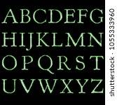 bright green glass style...   Shutterstock . vector #1055333960