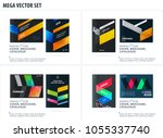 business set of design brochure ... | Shutterstock .eps vector #1055337740
