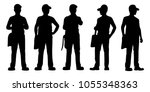 standing young man with cap and ... | Shutterstock .eps vector #1055348363