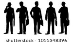 standing business man with... | Shutterstock .eps vector #1055348396