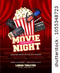 Movie Night Concept. Creative...