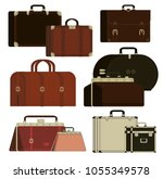 travel different bags ... | Shutterstock .eps vector #1055349578