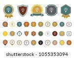 dollar light bulb icon | Shutterstock .eps vector #1055353094