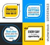 vectors quote collection.... | Shutterstock .eps vector #1055353613