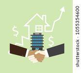 handshake business finance... | Shutterstock .eps vector #1055354600