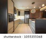 luxury kitchen interior | Shutterstock . vector #1055355368