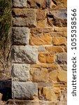 historic sandstone building... | Shutterstock . vector #1055358566