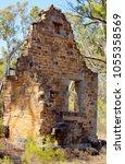 historic sandstone building... | Shutterstock . vector #1055358569