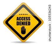 Access Denied Vector Sign ...