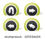 green return and arrow 3d icons | Shutterstock .eps vector #105536654