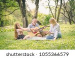 happy family concept   father... | Shutterstock . vector #1055366579