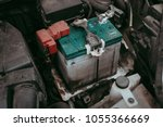 car battery corrosion .should... | Shutterstock . vector #1055366669