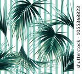 tropical exotic seamless vector ... | Shutterstock .eps vector #1055368823