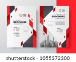 flyer brochure design  business ... | Shutterstock .eps vector #1055372300