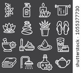 vector outline web icon set  ... | Shutterstock .eps vector #1055377730