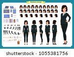 set of businesswoman character... | Shutterstock .eps vector #1055381756