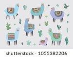 vector hand drawn illustrations ...   Shutterstock .eps vector #1055382206