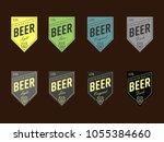 beer label design. set of beer... | Shutterstock .eps vector #1055384660