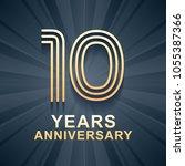 10 years anniversary... | Shutterstock .eps vector #1055387366