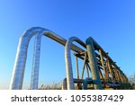 oil pipes  outdoors | Shutterstock . vector #1055387429