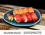 fresh sushi traditional...   Shutterstock . vector #1055390270