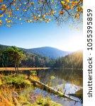 moraine lake kleiner arbersee... | Shutterstock . vector #1055395859