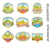 collection of labels with the... | Shutterstock .eps vector #1055399720