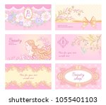 set of  glamour backgrounds for ... | Shutterstock .eps vector #1055401103