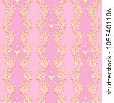 victorian style pattern with... | Shutterstock .eps vector #1055401106