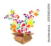 vector illustration of colorful ... | Shutterstock .eps vector #1055401454