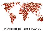 world map collage of tomato...   Shutterstock .eps vector #1055401490