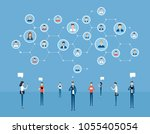 flat business online... | Shutterstock .eps vector #1055405054