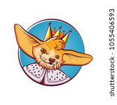 fox king round logo design... | Shutterstock .eps vector #1055406593