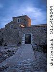climb to the saint nicolas... | Shutterstock . vector #1055409044