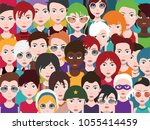 people avatars set of diverse... | Shutterstock .eps vector #1055414459