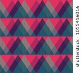 red triangle seamless pattern | Shutterstock .eps vector #1055416016