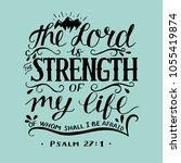 hand lettering the righteous... | Shutterstock .eps vector #1055419874